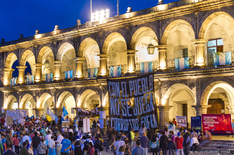 Rudy Giron: Antigua Guatemala &emdash; Protests against corruption in Antigua Guatemala