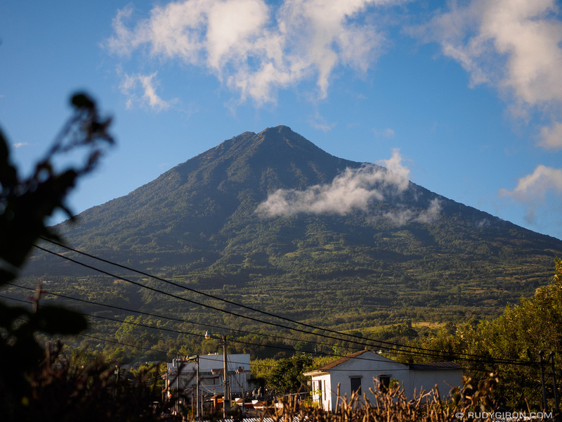 Rudy Giron: Antigua Guatemala &emdash; Volcan Agua after sunrise