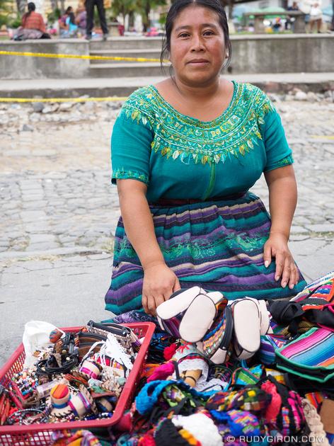 Rudy Giron: Antigua Guatemala &emdash; Maya woman selling handicrafts on the streets