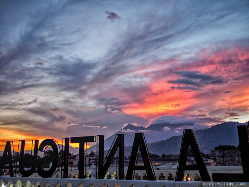 Rudy Giron: Antigua Guatemala &emdash; Cloudscape from Antigua Guatemala