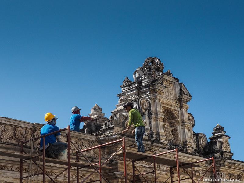 Rudy Giron: Antigua Guatemala &emdash; Restoration works at the former Colegio Tridentino in Antigua Guatemala