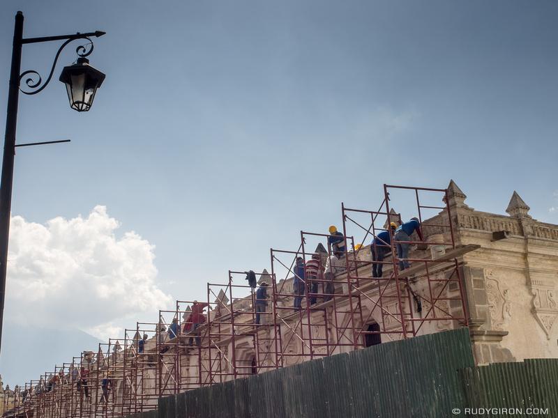 Rudy Giron: Antigua Guatemala &emdash; Renovation works at the former USAC building in Antigua Guatemala